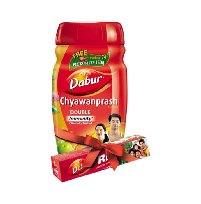 Dabur chyawanprash awaleha 1kg with 150gm dabur red paste free