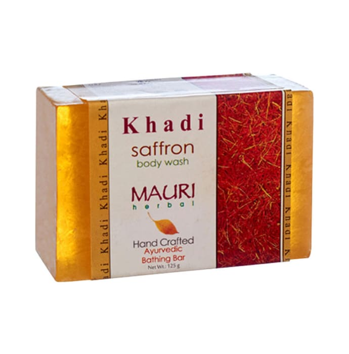 Khadi mauri herbal saffron soap pack of 2