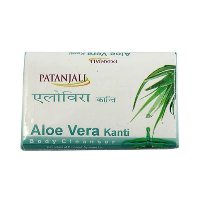 Patanjali ayurveda aloe vera kanti body cleanser soap pack of 5