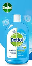 Dettol Liquid Disinfectant for Multi-Purpose Germ Protection, Menthol Cool, 500 ml